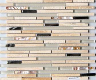 Mosavit mosaic Lluvia Beige mini