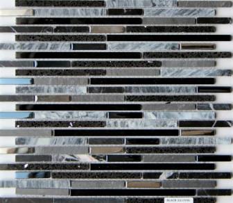 Mosavit mosaic Lluvia Negro mini