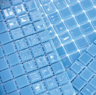 Kitchen mosaic tiles MC 203 Azul Claro mini