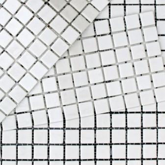 Kitchen mosaic tiles MC 101 Blanco mini