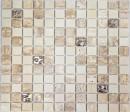 Mosavit mosaic Travert Botticino Drops
